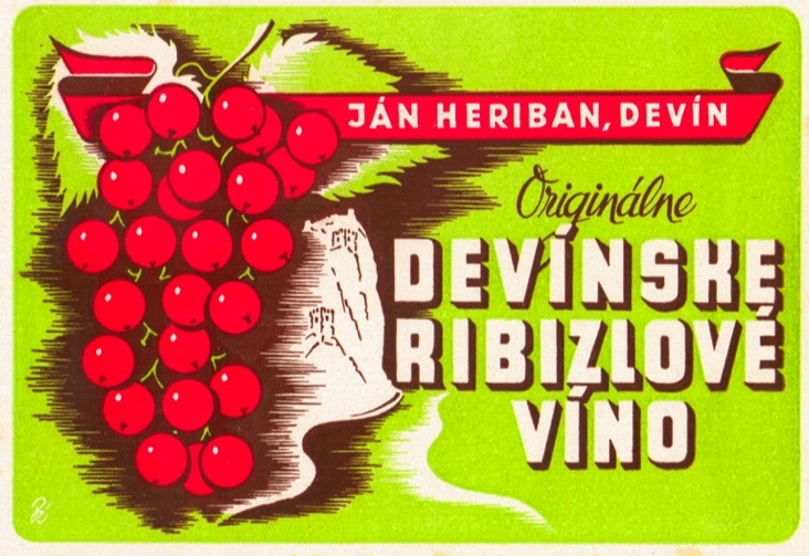 Jan Heriban - currant wine label